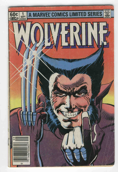 Wolverine Mini-Series #1 Chris Claremont & Frank Miller Bronze Age News Stand Variant GD