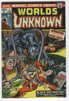 Worlds Unknown #5 The Black Destroyer A.E. Van Vogt Bronze Age Horror FVF