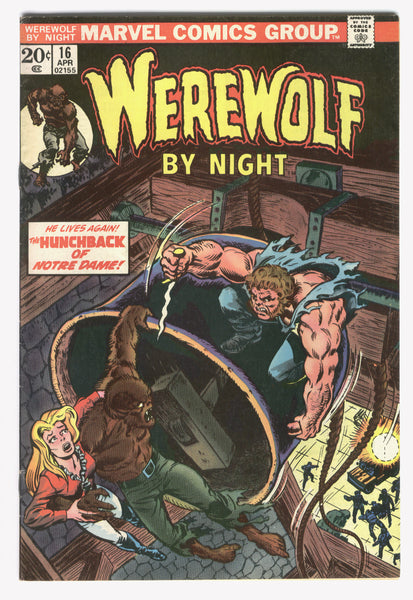 Werewolf By Night #16 The Hunchback Of Notre Dame Ploog Art Bronze Age Horror Classic FN
