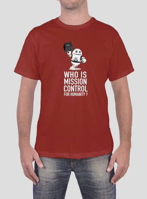 Gerd's Ladies' and Men's T-Shirt: Who is Mission Control for Humanity? (ss)
