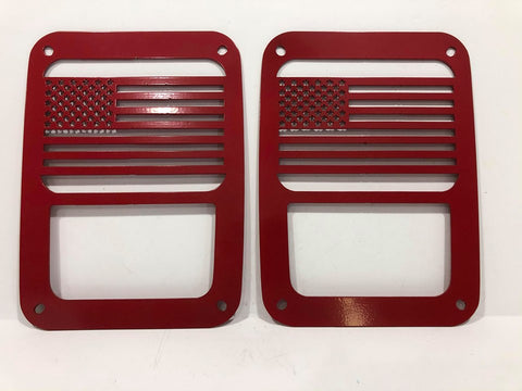 American Flag Tail Light Guards for Jeep Wrangler JK & TJ