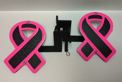 Breast Cancer Awareness Ribbon Foot Pegs