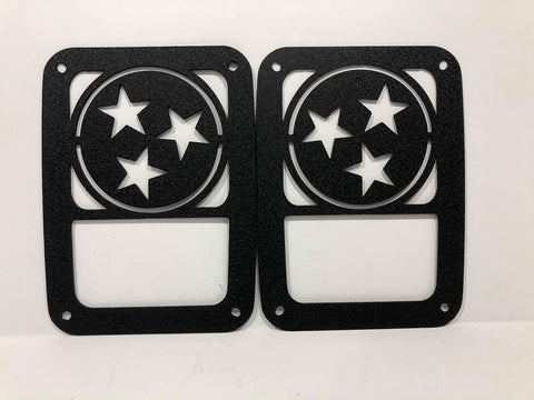 Tennessee State Logo Tail Light Guards for Jeep Wrangler JK & TJ