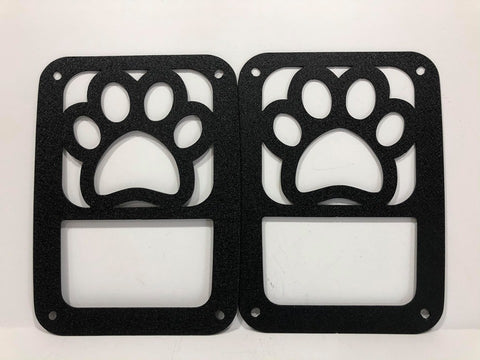 Dog Paw Tail Light Guards for Jeep Wrangler JK & TJ