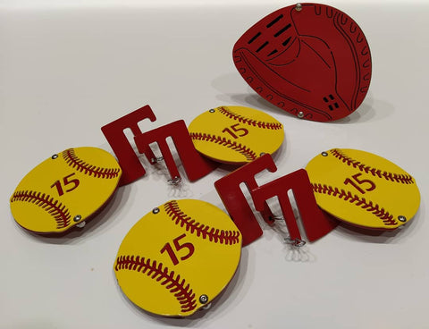 Softball Foot Peg Set of 4 & Glove Hitch Cover Kit