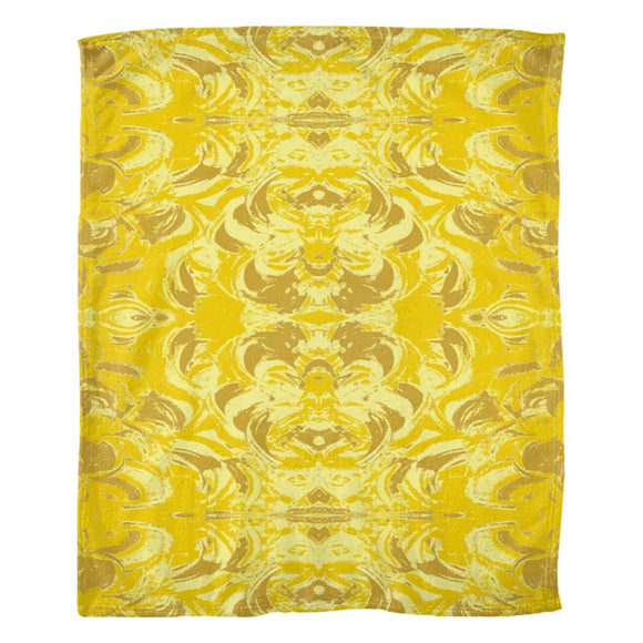 Yellow Glimmer Design - Fleece Blankets