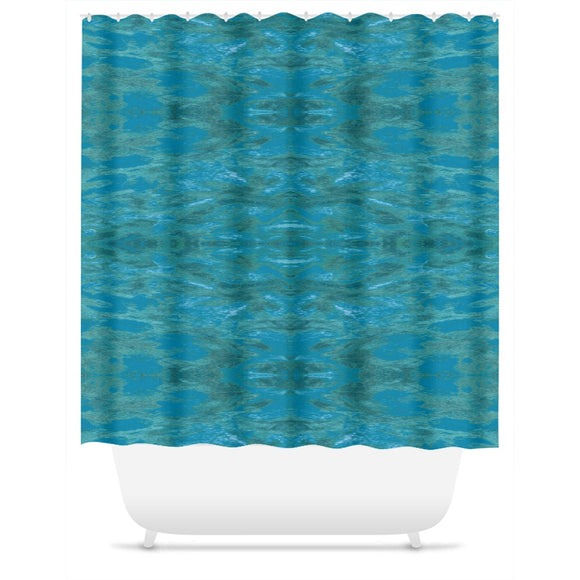 Green Paisley Enhanced Design - Shower Curtains