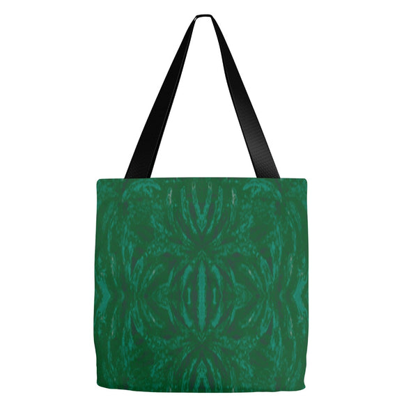 Green Burst Design - Tote Bags