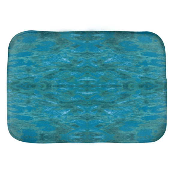 Green Paisley Enhanced Design - Bath Mats