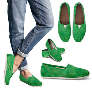 Green Gold Swirl Design - Women's Casual Shoes Espadrilles