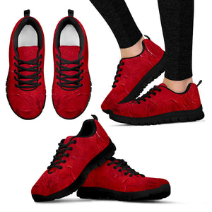 Red Passion Swirl Design - Women's Sneakers Shoes