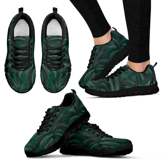 Green Burst Design - Women's Sneakers Shoes