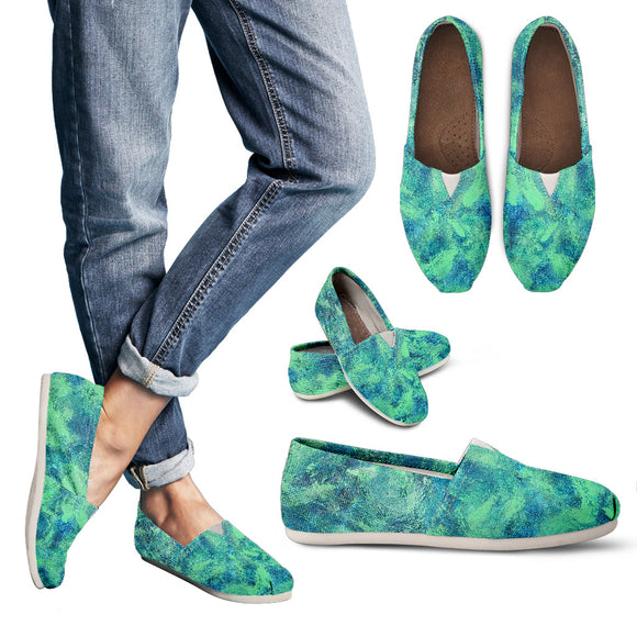Green Paisley Design - Women's Casual Shoes Espadrilles
