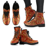 Glory Be Swirl Design - Women's Leather Boots Shoes