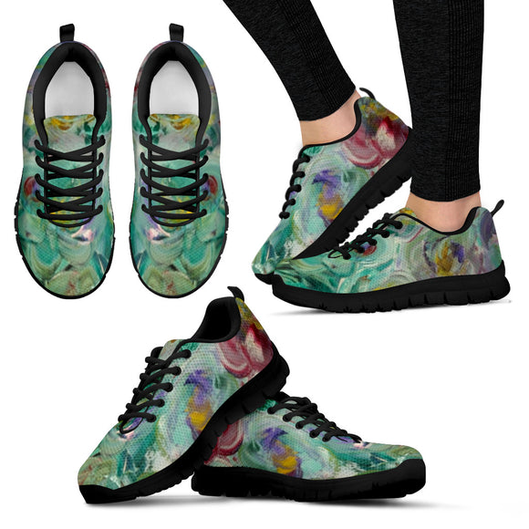 Floral Rhapsody Design - Women's Sneakers Shoes