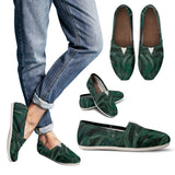 Green Burst Design - Women's Casual Shoes Espadrilles