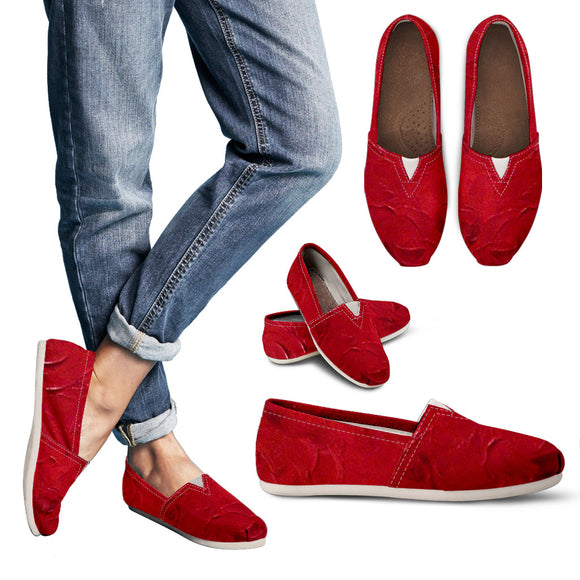 Red Passion Swirl Design - Women's Casual Shoes Espadrilles