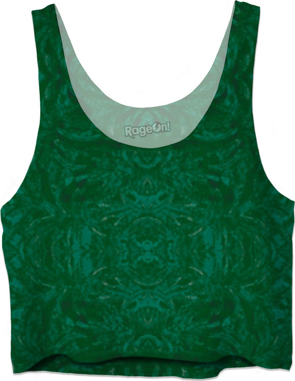 Green Burst Enhanced Design - Crop Tops