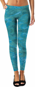 Green Paisley Enhanced Design - Leggings