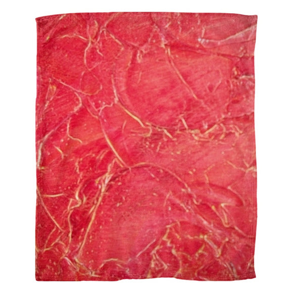 Orange Crackle Swirl Design - Fleece Blankets