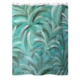 Green Burst Swirl Design - Shower Curtains