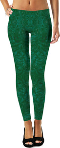 Green Burst Enhanced Design - Leggings