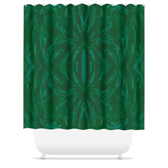 Green Burst Design - Shower Curtains