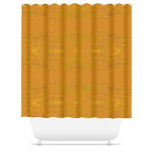 Yellow Glimmer Enhanced Design - Shower Curtains