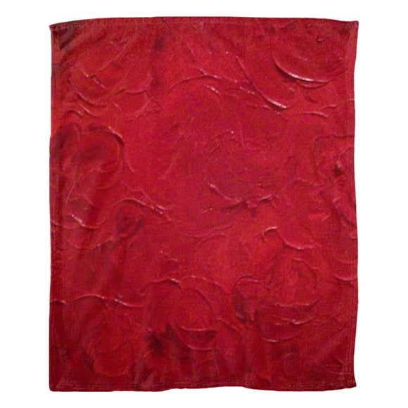 Red Passion Swirl Design - Fleece Blankets