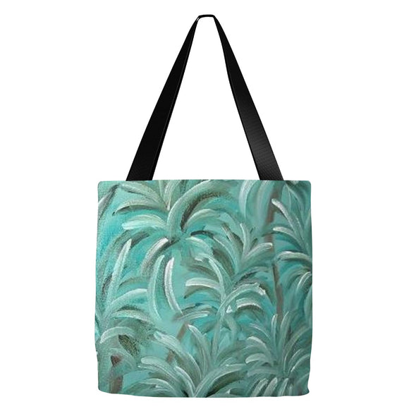Green Burst Swirl Design - Tote Bags