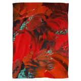 Red Renaissance Swirl Design - Fleece Blankets