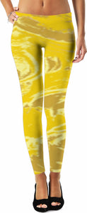 Yellow Glimmer Design - Leggings