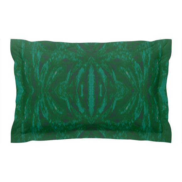 Green Burst Design - Pillow Shams