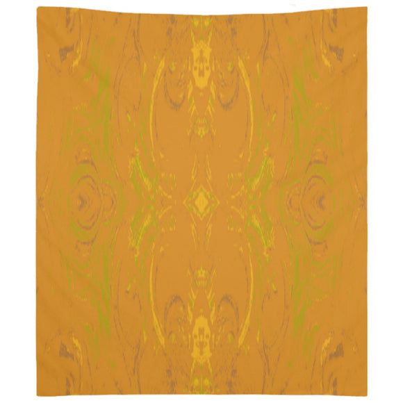 Yellow Glimmer Enhanced Design - Tapestries