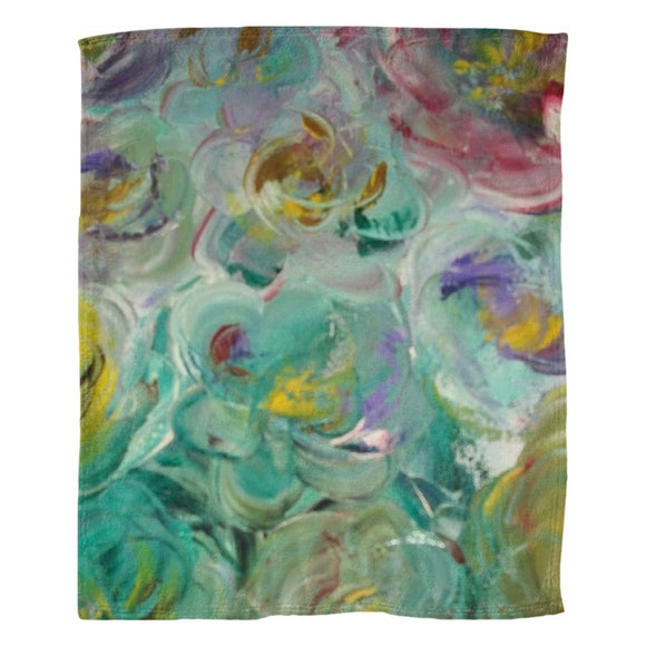 Floral Rhapsody Design - Fleece Blankets