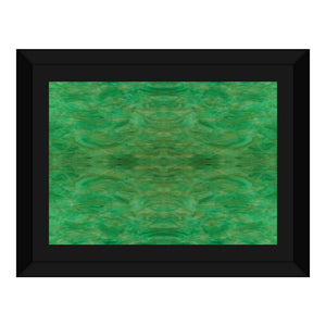 Green Gold Design - Framed Canvas