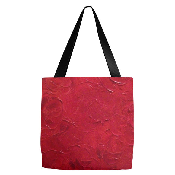 Red Passion Swirl Design - Tote Bags