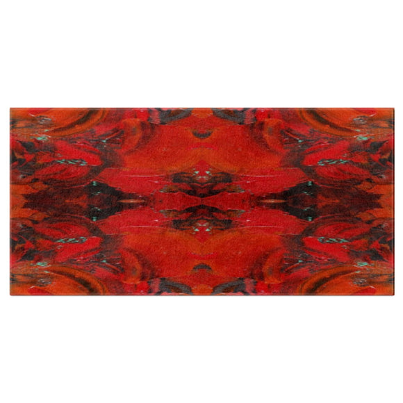 Red Renaissance Design - Bath Towels
