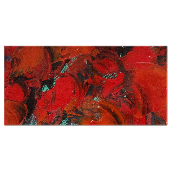 Red Renaissance Swirl Design - Bath Towels