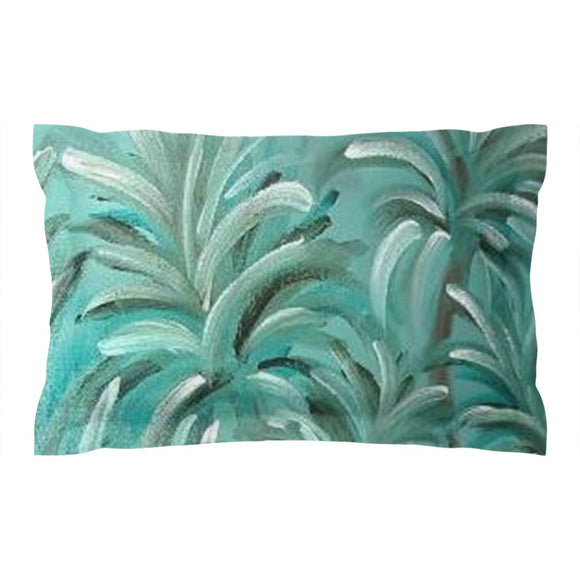 Green Burst Swirl Design - Pillow Shams