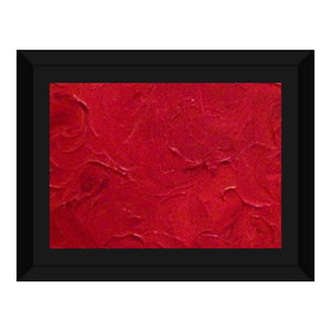 Red Passion Swirl Design - Framed Canvas