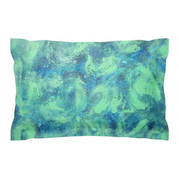 Green Paisley Design - Pillow Shams