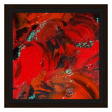 Red Renaissance Swirl Design - Framed Canvas