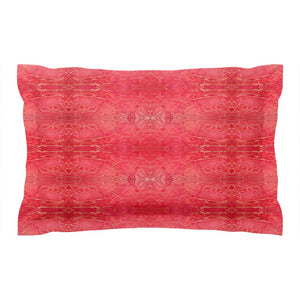 Orange Crackle Design - Pillow Shams