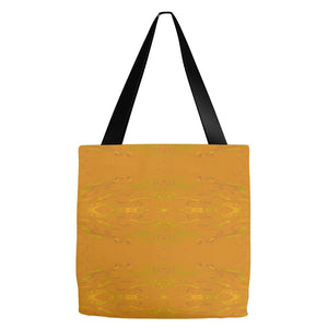 Yellow Glimmer Enhanced Design - Tote Bags