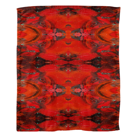 Red Renaissance Design - Fleece Blankets