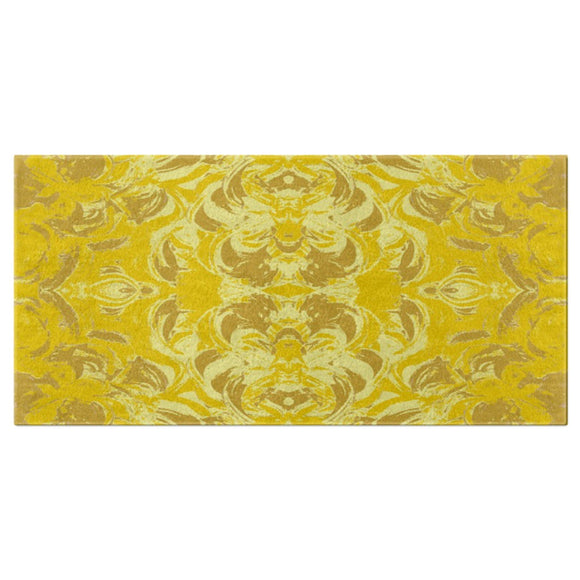 Yellow Glimmer Design - Bath Towels