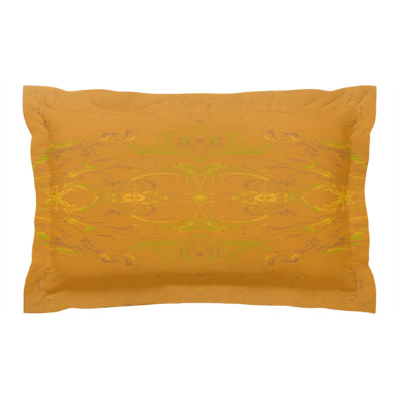 Yellow Glimmer Enhanced Design - Pillow Shams