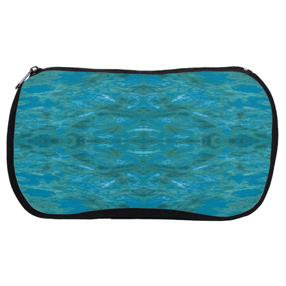 Green Paisley Enhanced Design - Cosmetic Bags