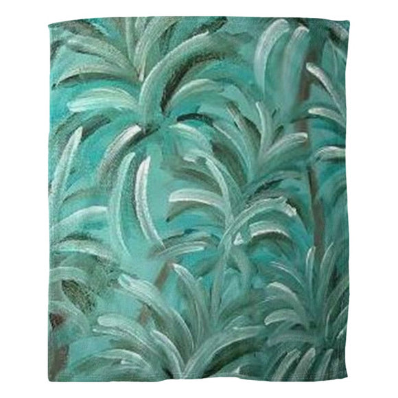 Green Burst Swirl Design - Fleece Blankets